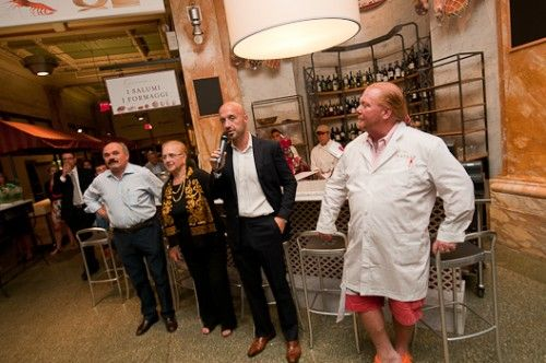 Bastianich and Batali at Eataly NYC.