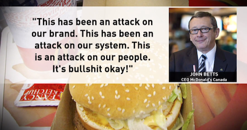 McDonald's Calls Report on Foreign Workers 'Bullshit'