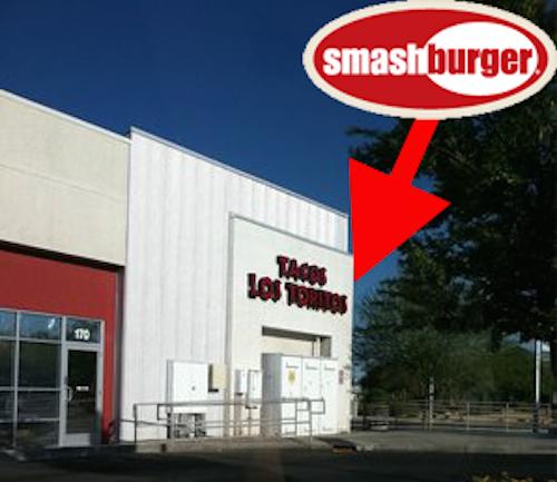 Smashburger going into a former Tacos Los Toritos