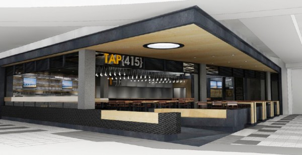 An early rendering of Tap(415); the color scheme may change.