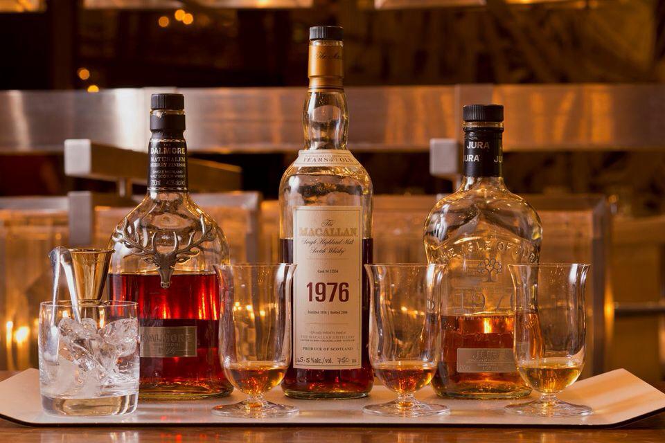 The Royal '70s whiskey flight at CUT