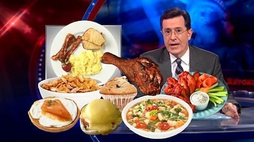 13 Great Food Moments on The Colbert Report