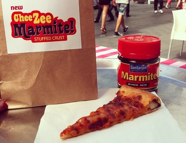 New Zealand Pizza Huts Unleash Marmite-Stuffed Crusts