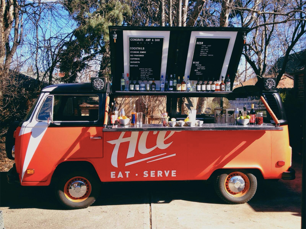 Here's a Mobile Bar in a Converted VW Bus