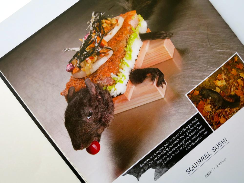 "A recipe for ""Squirrel Sushi"" from the Cabane à Sucre Au Pied De Cochon cookbook."