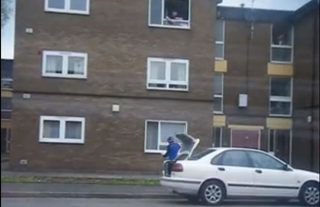Watch a Pizza Delivery Man Fling a Pizza Up Three Stories