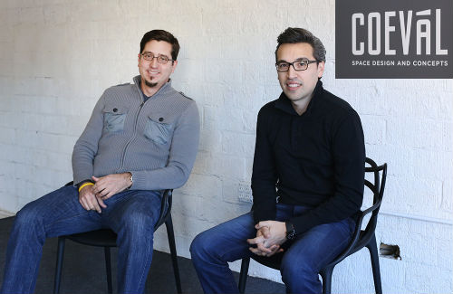 Miguel Vicens (left) and John Paul Valverde of Coeval Studio.