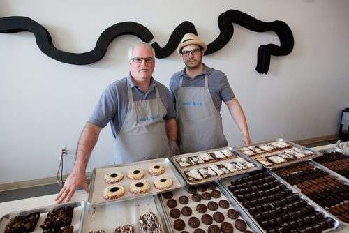 Jack Petronella (left) with business partner/fellow baker Coleman Jernigan