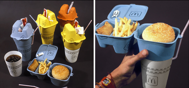 Here's a Crazy Prototype of a Stackable McDonald's Takeout Container