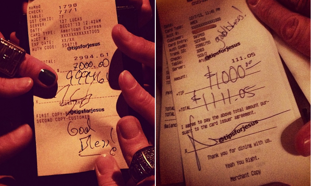 TipsForJesus Hits NYC and Tips Thousands