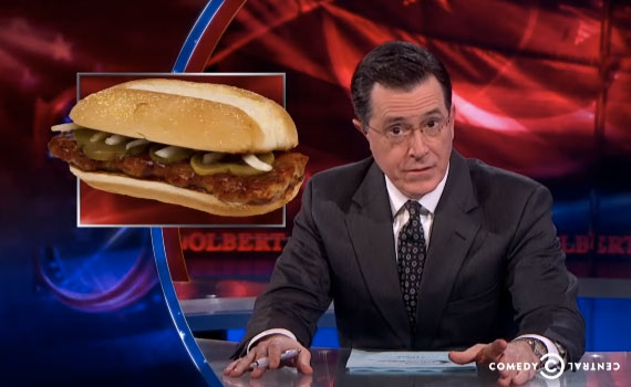 Colbert Defends the McRib, the 'Great American Mystery'