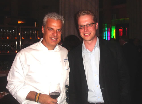 Collin (right) in skinnier times with Eric Ripert.