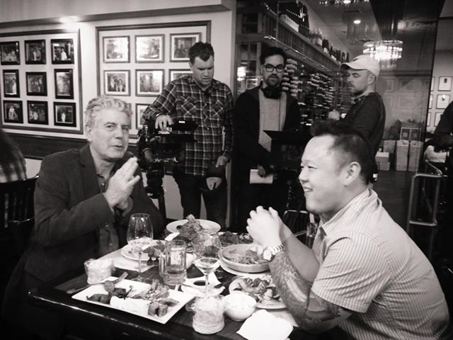 Anthony Bourdain and Jet Tila at Lotus of Siam
