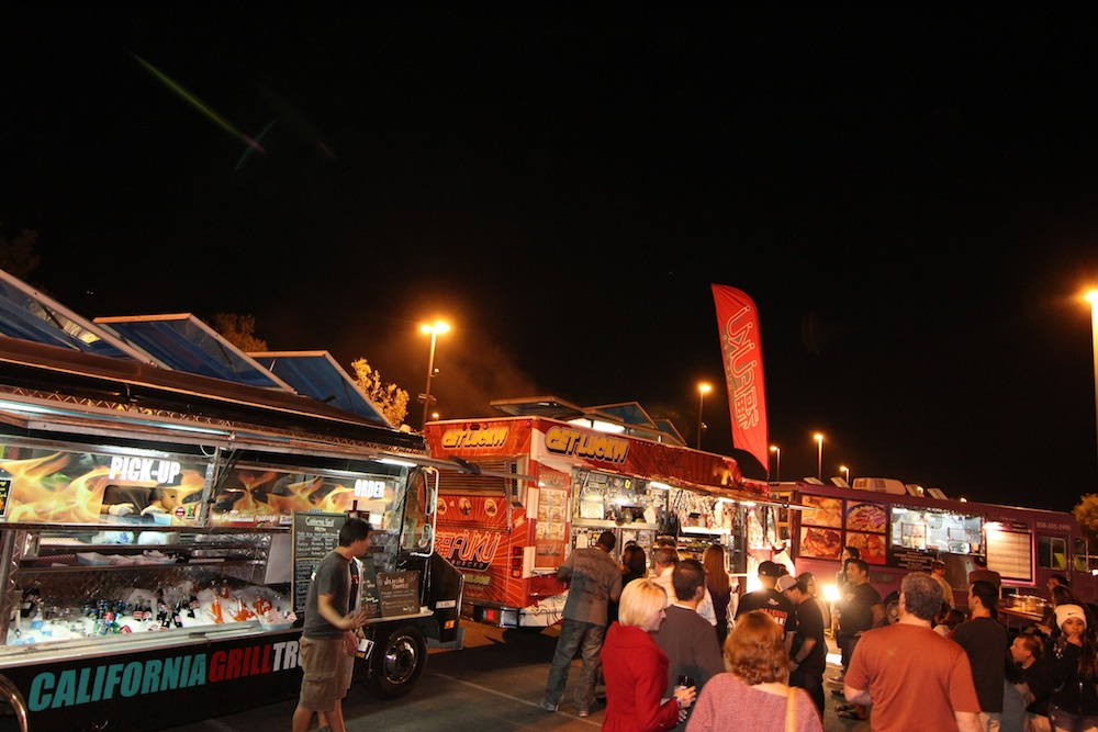Food trucks at the Foodie Fest