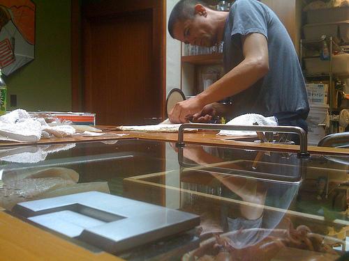 Black hard at work at Sebo.