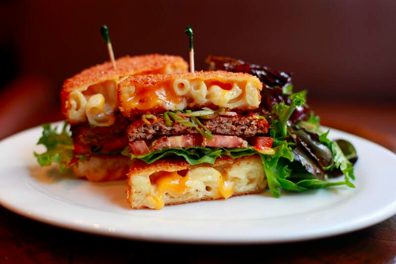 Behold a Burger With a Deep-Fried Mac and Cheese Bun
