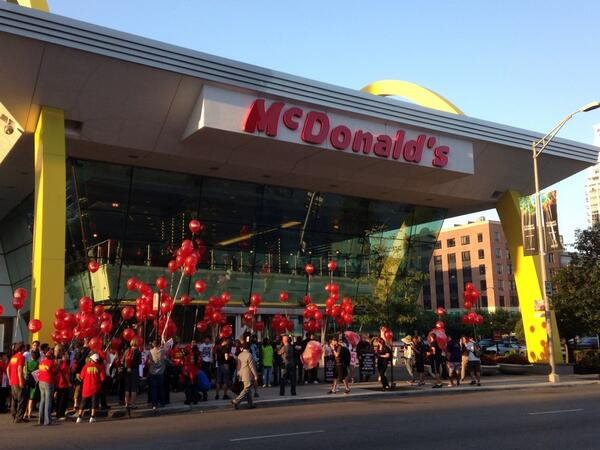 Fast Food Workers Nationwide Protest for Higher Wages