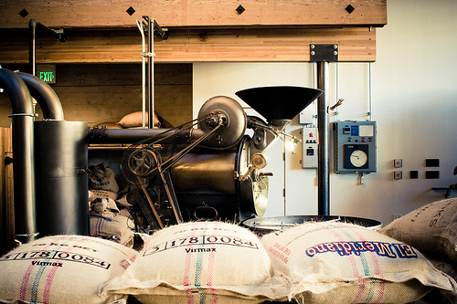Beans ready for roasting at Sightglass.