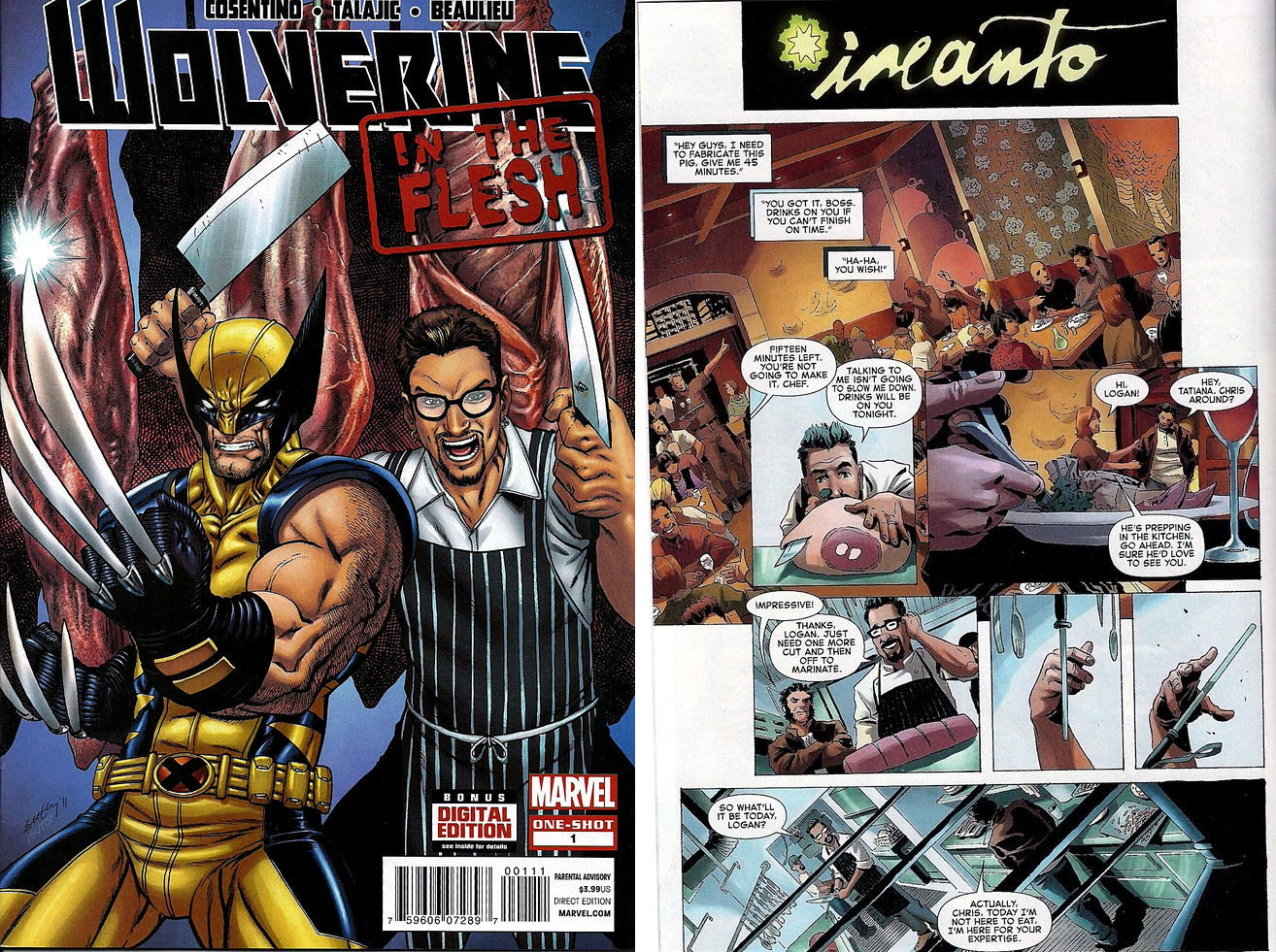 Here's a Look at Chris Cosentino's Wolverine Comic Book