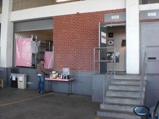 Kitchenette's loading dock, no longer.