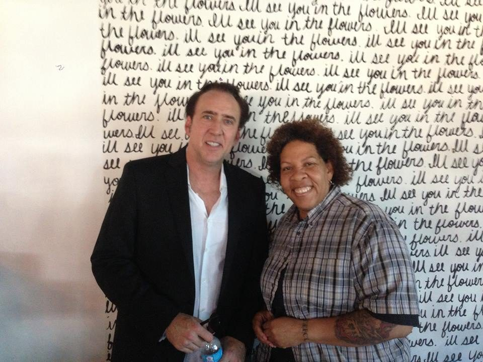 Nicholas Cage and Natalie Young at Eat. Photo: Facebook