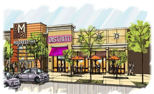 A rendering of Distrito at the mall.