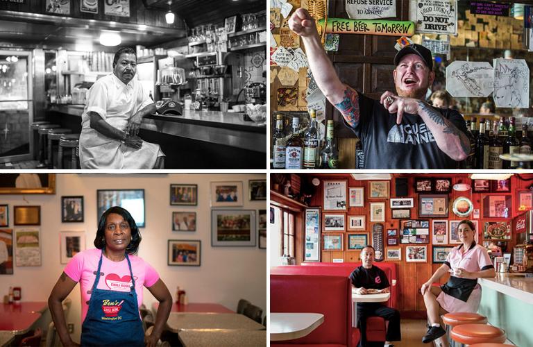 "Clockwise from top left: Celso Reyes, NYC [Photo: <a href=""http://nycfoodphotographer.com/"">Krieger</a>]; Mike ""Jonesy"" Jones, Seattle [Photo: <a href=""http://suzi-pratt.com/"">S. Pratt</a>]; Bruce and Sheila Chapman, SF [Photo: <a href=""http://www.a"