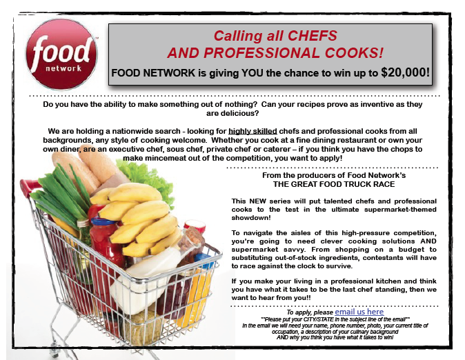 Food Network Now Casting for 'Grocery Games' Show