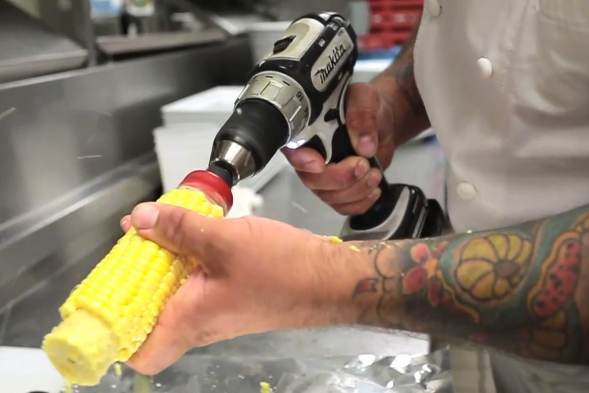 Watch Chicago Chefs Cook With Power Tools
