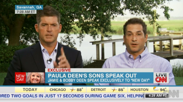 Watch Paula Deen's Sons Defend Her on CNN's New Day
