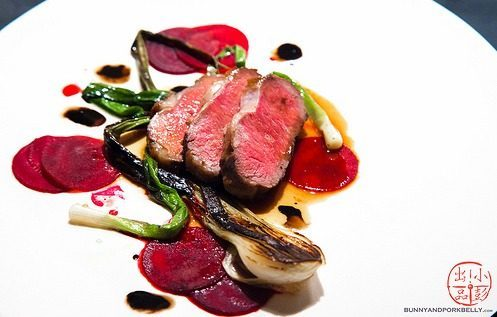 """Lamb with beets and scallions at Asta by <a href=""""http://www.flickr.com/photos/lala010/8734384024/in/pool-1844845@N22/"""">lala010</a>"""