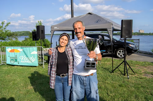 King of Falafel won The Vendy Cup