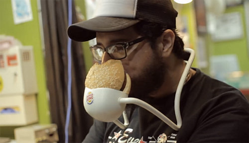 Here's a Hands-Free Whopper Holder from Burger King