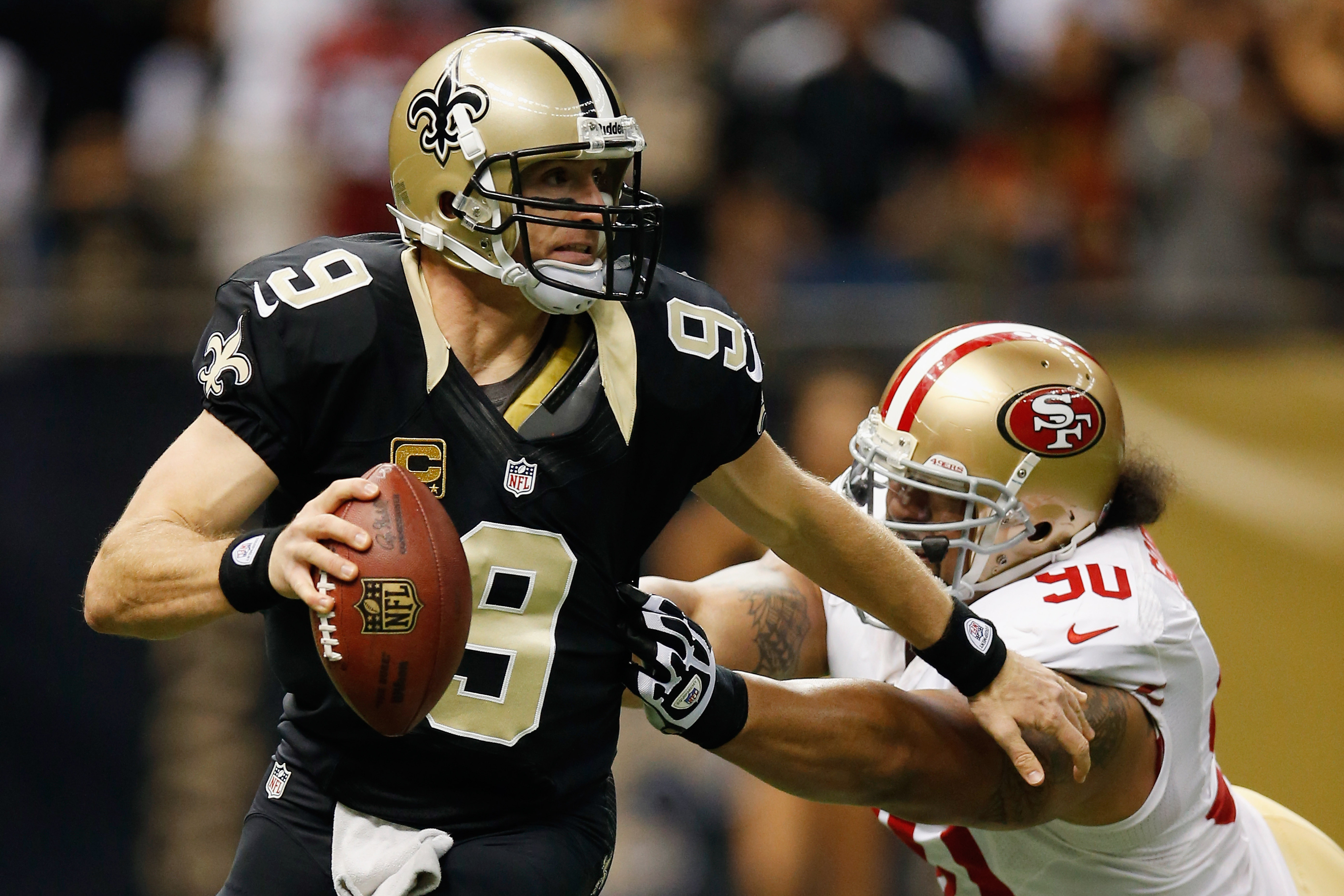 Drew Brees has done ok against the Niners rush.