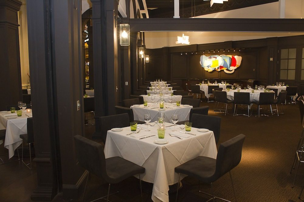 The revamped Trattoria del Lupo features new artwork <em>Cut, Paste, Time and Space</em> by Las Vegas artist David Ryan.