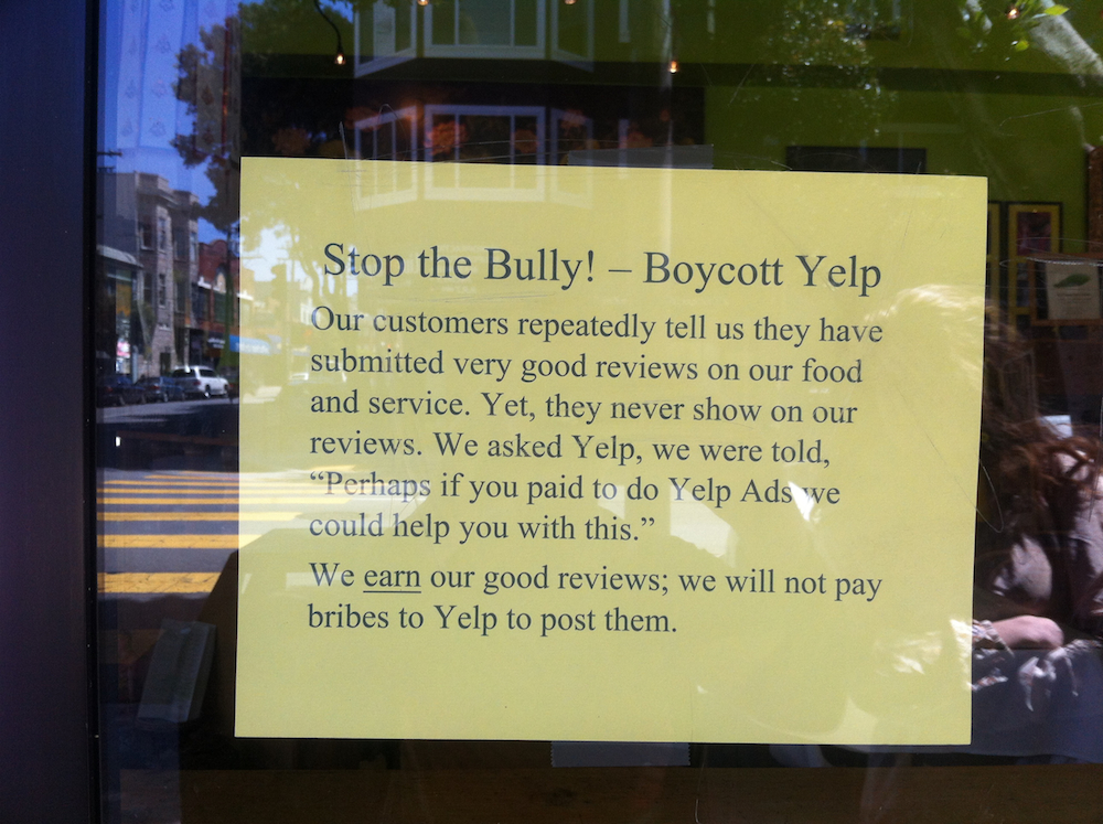 SF Restaurant Calls For Yelp Boycott: 'Stop the Bully'