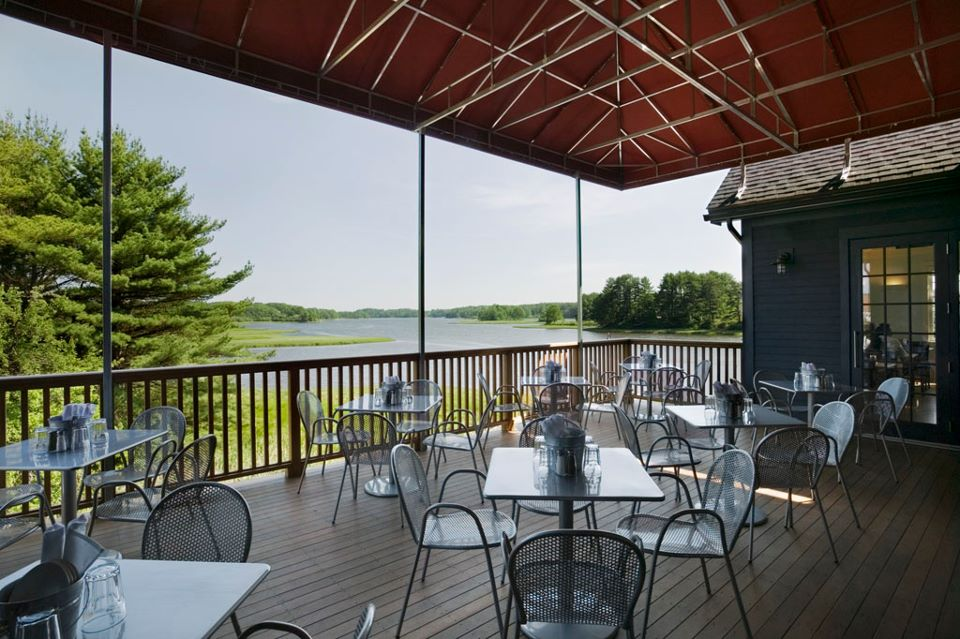 The deck at Robert's Maine Grill in Kittery, now open for the season