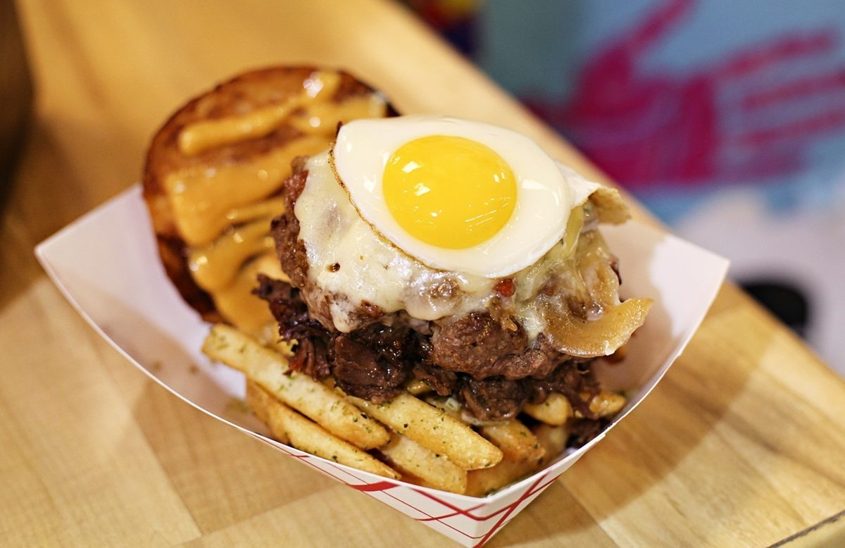 """The """"Minne Goober"""": An amped-up Goober (with short ribs and truffle fries added)."""