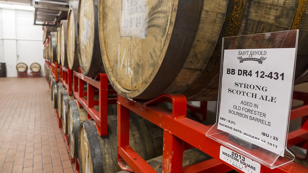Inside the Barrel Room at Saint Arnold