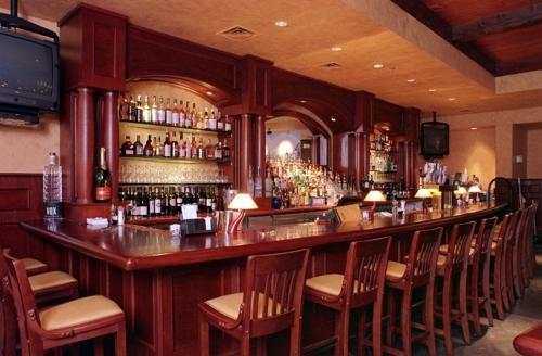 The bar at Village Tavern.