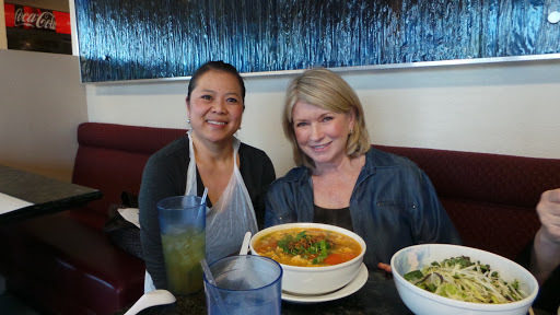 """Martha Stewart with chef Vanessa at Pho Bosa. Photo: <a href=""""http://www.themarthablog.com/2013/03/more-of-our-time-in-las-vegas.html"""">The Martha Blog</a>"""