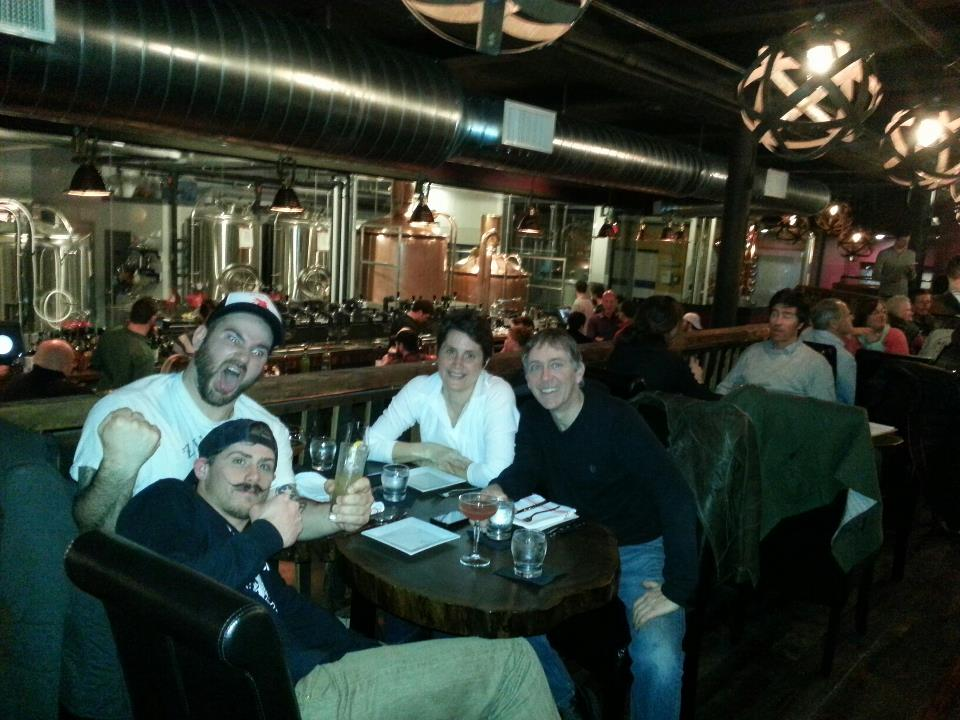 """""""Family and friends"""" tasting at In'finiti Fermentation and Distillation last week."""