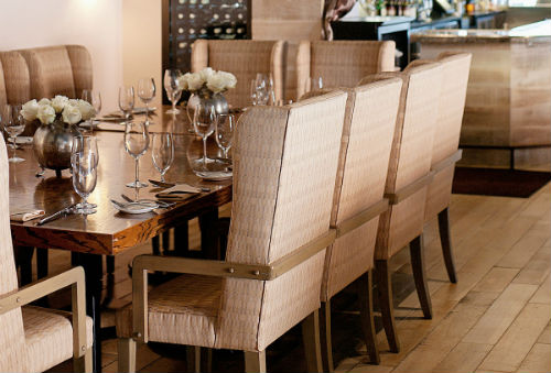 The dining room at Oak.