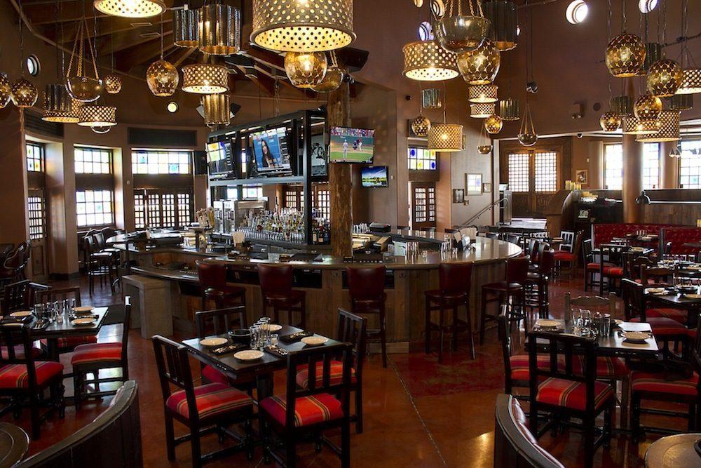 The bar at Dos Caminos.