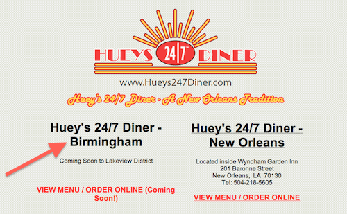 "Courtesy of <a href=""http://www.hueys247diner.com/"">Official Website</a>"