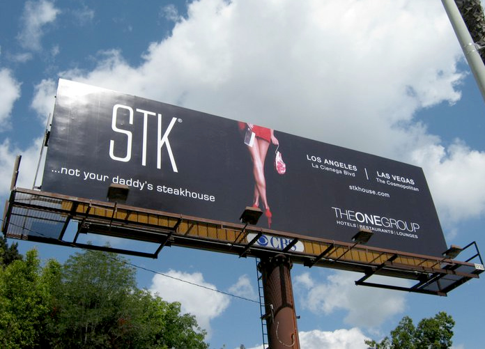 """""""Female-friendly"""" steakhouse chain STK advertises that it is not your daddy's steakhouse in Los Angeles."""