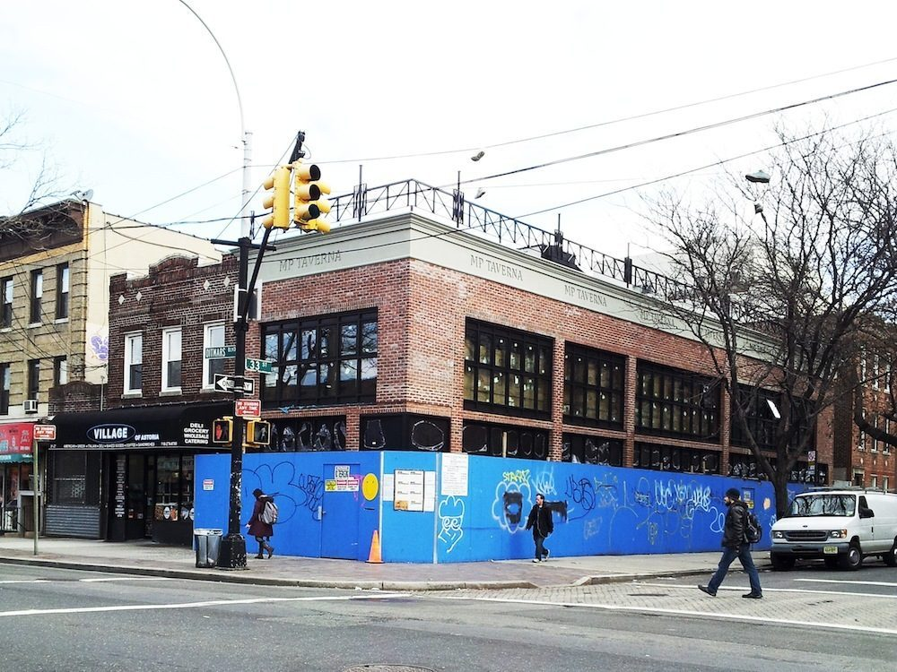A tipster sends in this photo of MP Taverna, coming to Astoria.