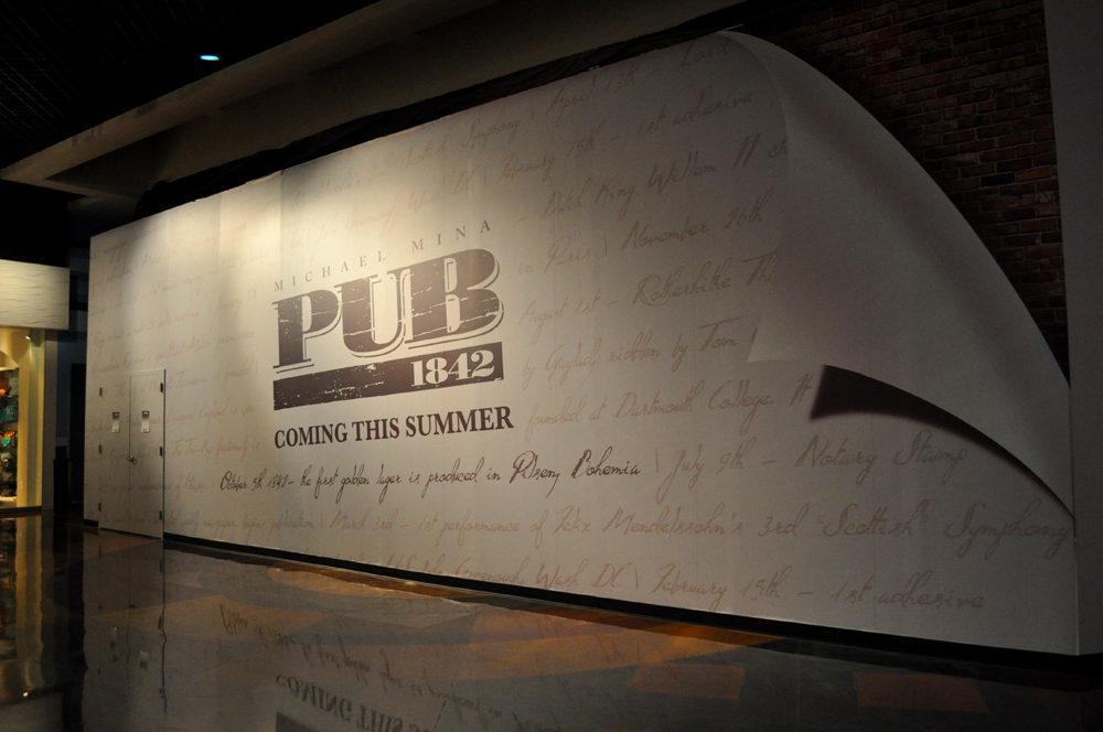 The plywood for Michael Mina's Pub 1842.