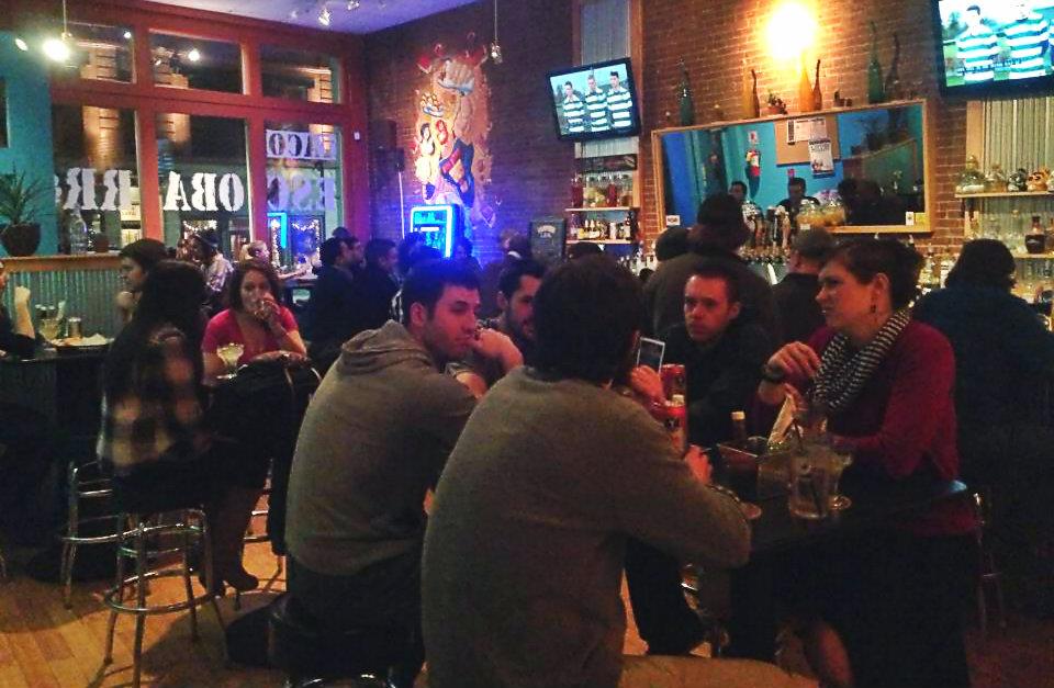 Busy night at Taco Escobarr in Portland.