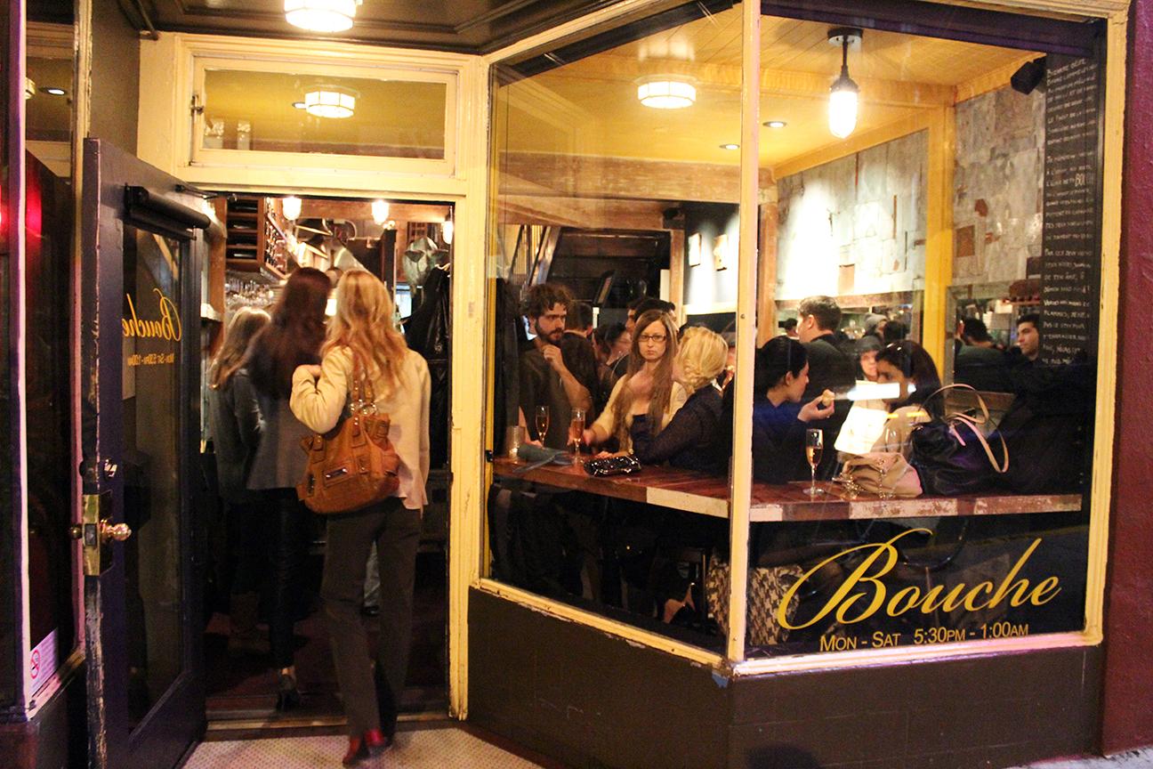 Crowds pack Bouche's one-year anniversary bash.